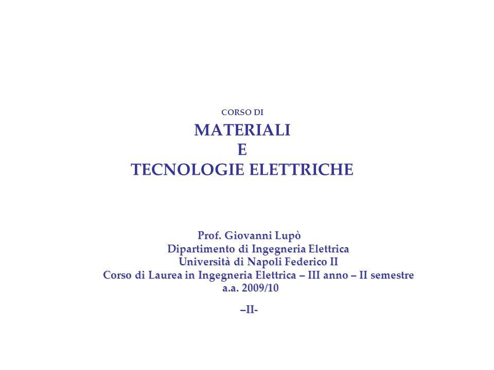 CdL Ing. Elettrica - Materiali e Tecnologie Elettriche 2009/10 -II- 12 Raggio atomico