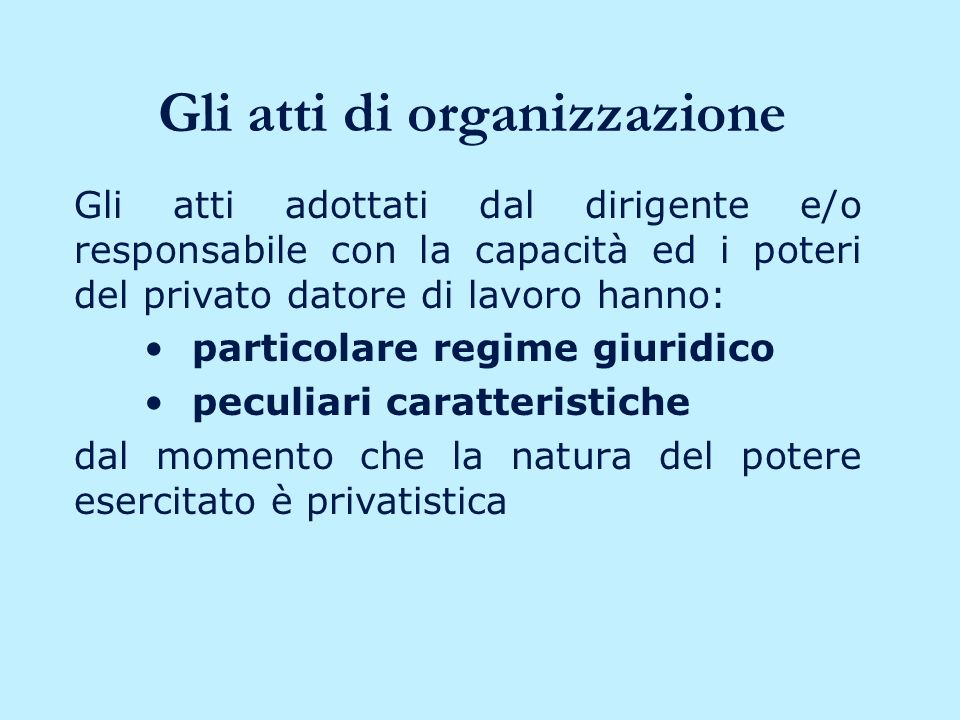 Gli altri poteri Potere di vigilanza Potere di controllo su aspetti strettamente collegati e in funzione dell attivit à lavorativa (es.