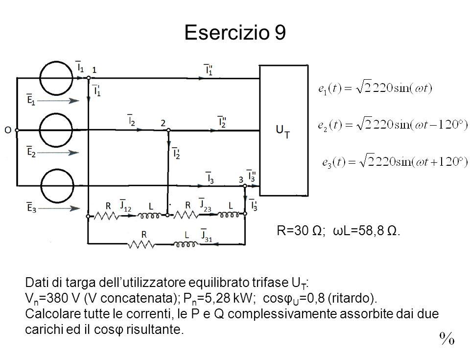 Esercizio 9 R=30 ; ωL=58,8.