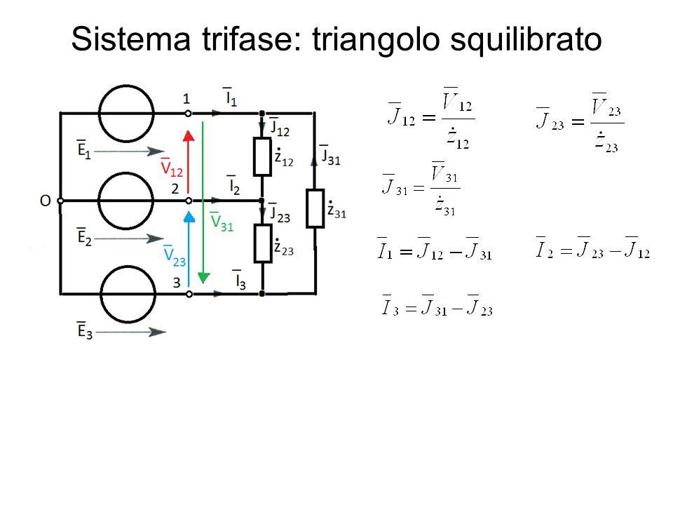 Sistema trifase: triangolo squilibrato