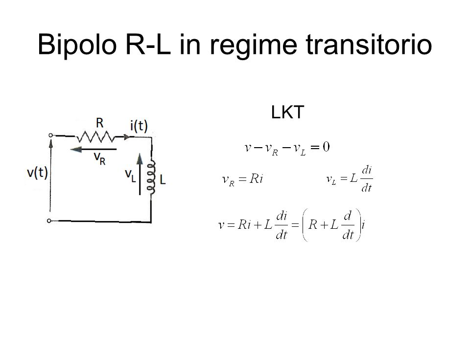 Bipolo R-L in regime transitorio LKT