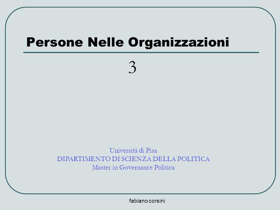 fabiano corsini Persone Nelle Organizzazioni Università di Pisa DIPARTIMENTO DI SCIENZA DELLA POLITICA Master in Governance Politica 3