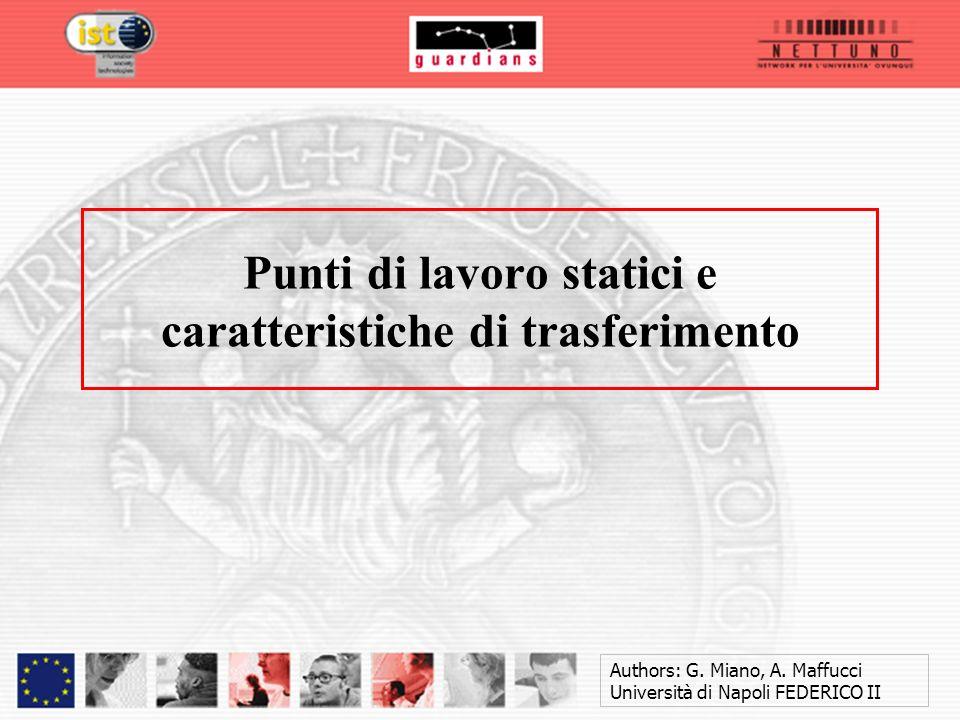 Authors: G. Miano, A. Maffucci Università di Napoli FEDERICO II Punti di lavoro statici e caratteristiche di trasferimento