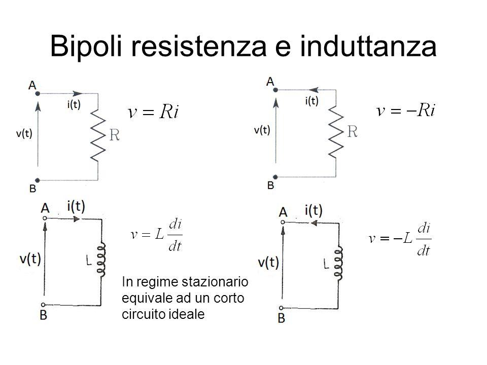 Grandezze sinusoidali A M ampiezza α fase Valore efficace: Se f=50 Hz, T=20 ms, ω=100π rad/s