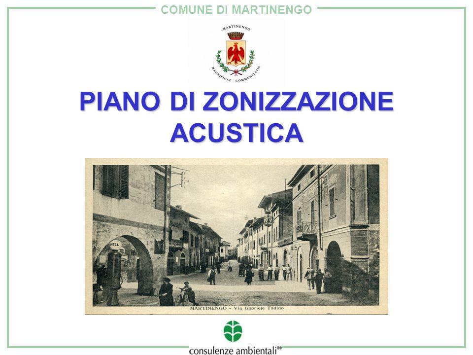 COMUNE DI MARTINENGO ZONIZZAZIONE ACUSTICA: SCELTE Recepimento della normativa sul traffico stradale (DPR 142/2004).