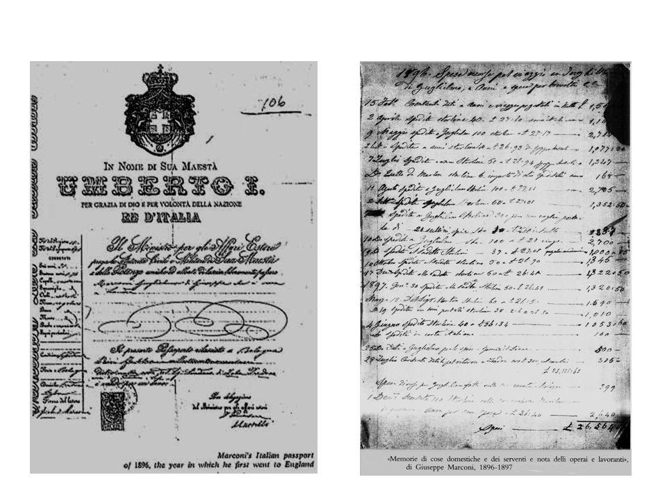 –5 Marzo 1896 - Presenta la prima richiesta provvisoria di brevetto a Londra.