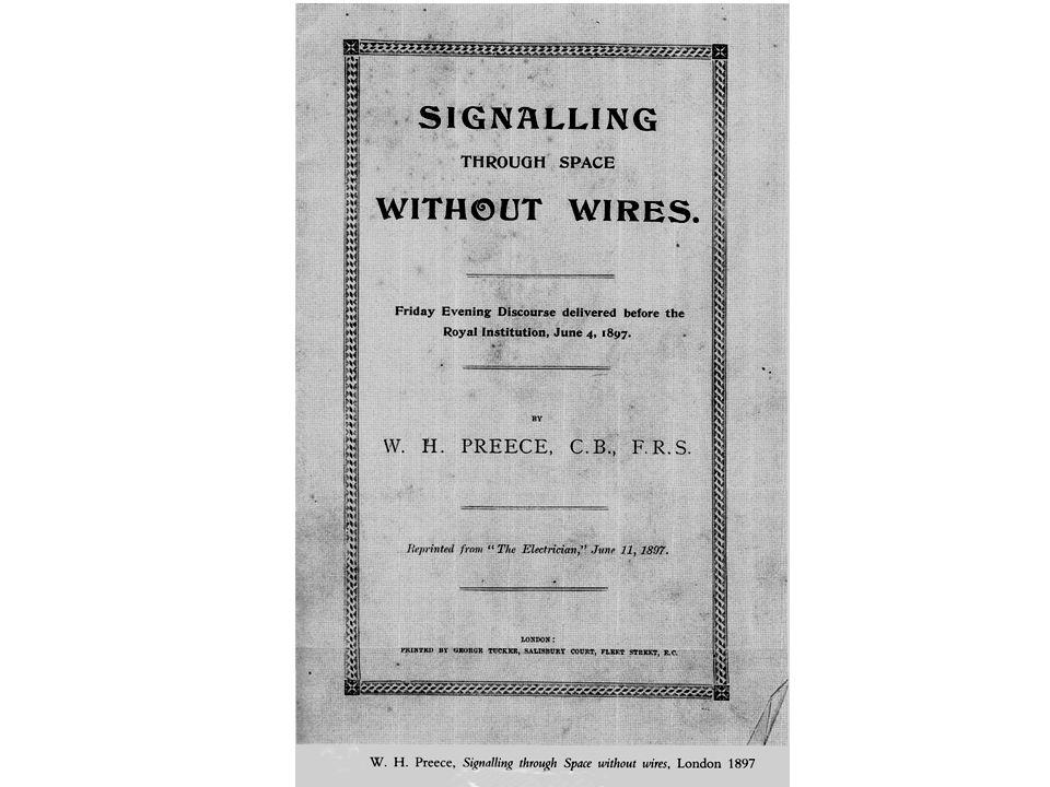 –2 Luglio 1897 - Marconi riceve il brevetto n.12.039, con validità dal 2 giugno 1896.