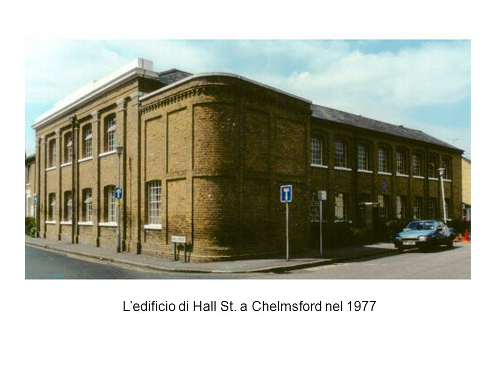 Ledificio di Hall St. a Chelmsford nel 1977