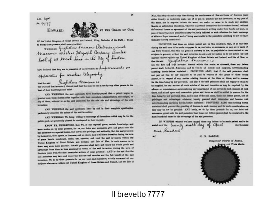 Il brevetto 7777