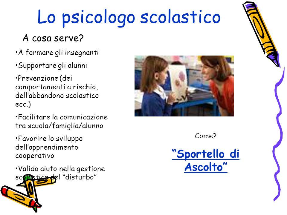 Lo psicologo scolastico A cosa serve.