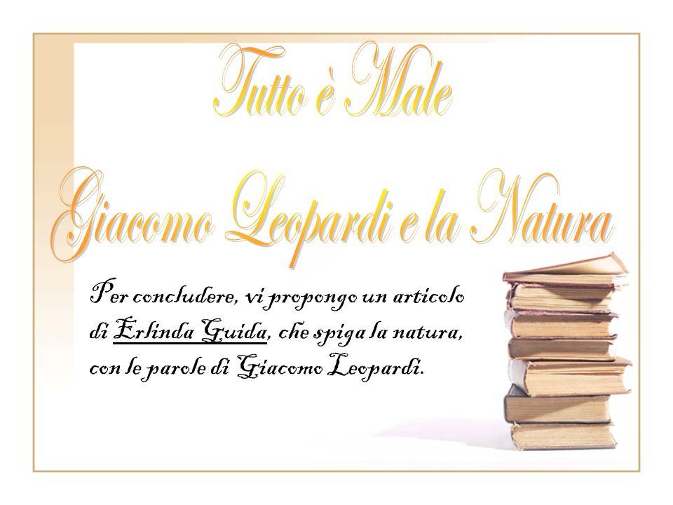 Il Leopardi nella sua prima giovinezza aveva tradotto dal greco la Batracomiomachia (battaglia delle rane e dei topi) un poemetto burlesco. Negli ulti