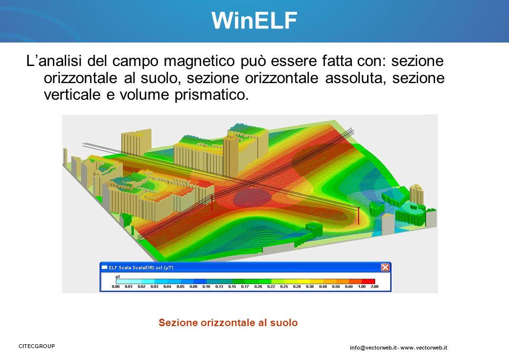 Lanalisi del campo magnetico può essere fatta con: sezione orizzontale al suolo, sezione orizzontale assoluta, sezione verticale e volume prismatico.