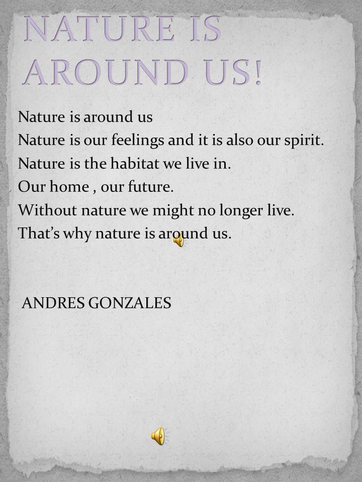 La natura è intorno a noi La natura è i nostri sentimenti ed è anche il nostro spirito.