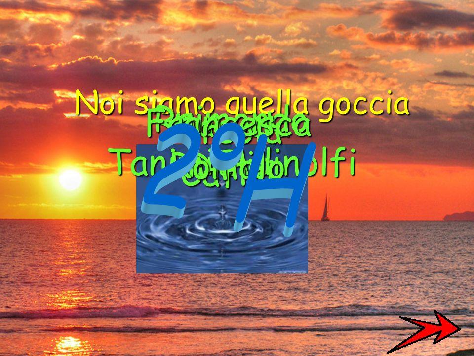 Sappiamo bene che ciò che facciamo non è che una goccia nell'oceano. Ma se questa goccia non ci fosse, all'oceano mancherebbe qualcosa.