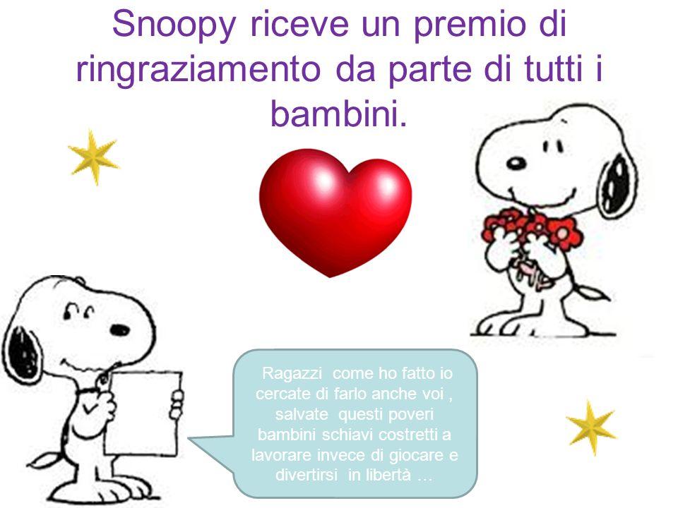 Snoopy salva tutti i bambini e diventa per loro un eroe. Grazie snoopy… Sarai sempre nei nostri Cuori