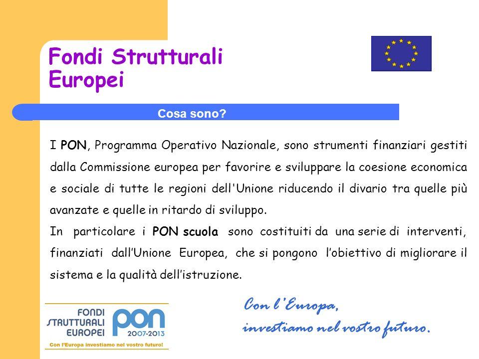 Fondi Strutturali Europei Cosa sono.
