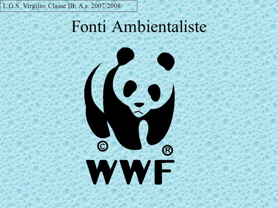 Fonti Ambientaliste L.G.S. Virgilio; Classe IB; A.s. 2007/2008