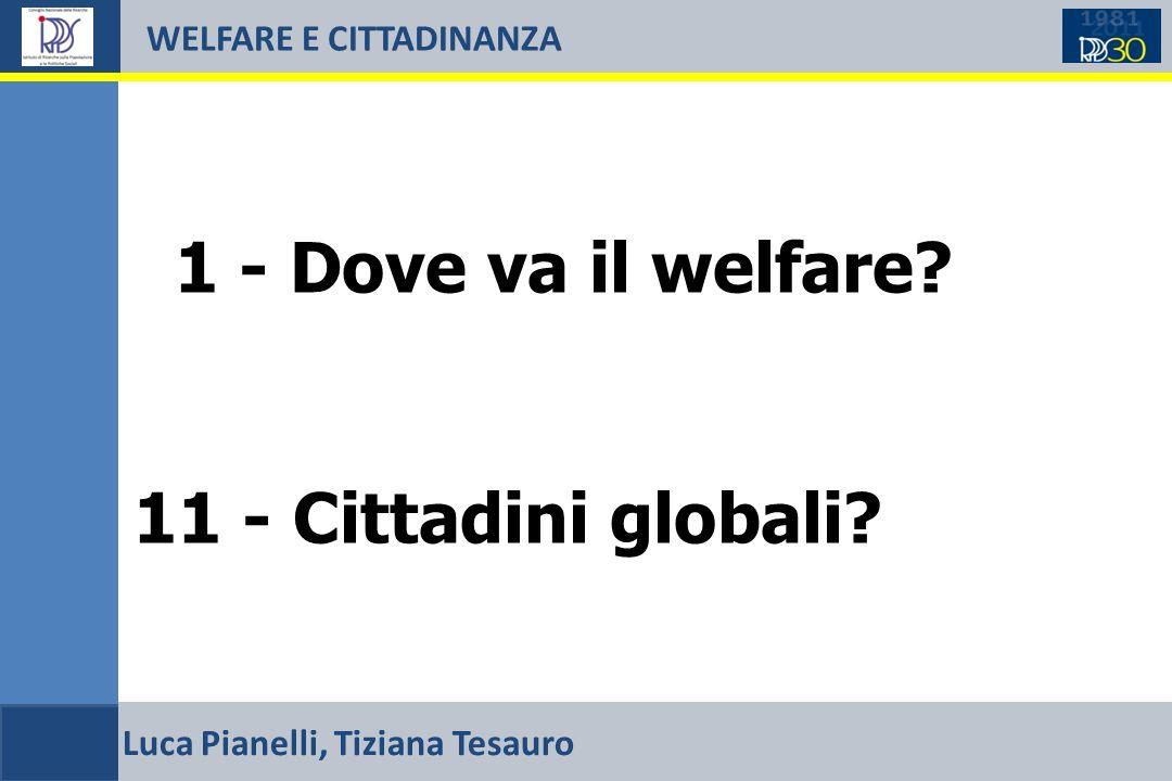 WELFARE E CITTADINANZA 1 - Dove va il welfare. 11 - Cittadini globali.