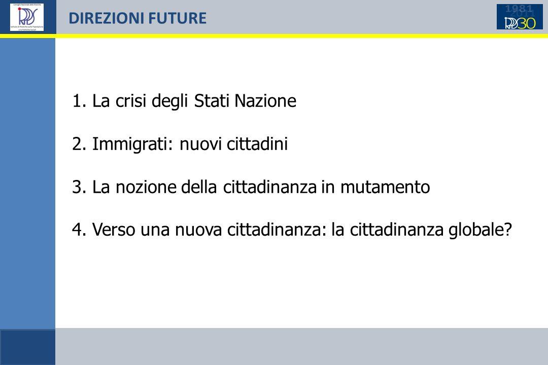DIREZIONI FUTURE 1. La crisi degli Stati Nazione 2.