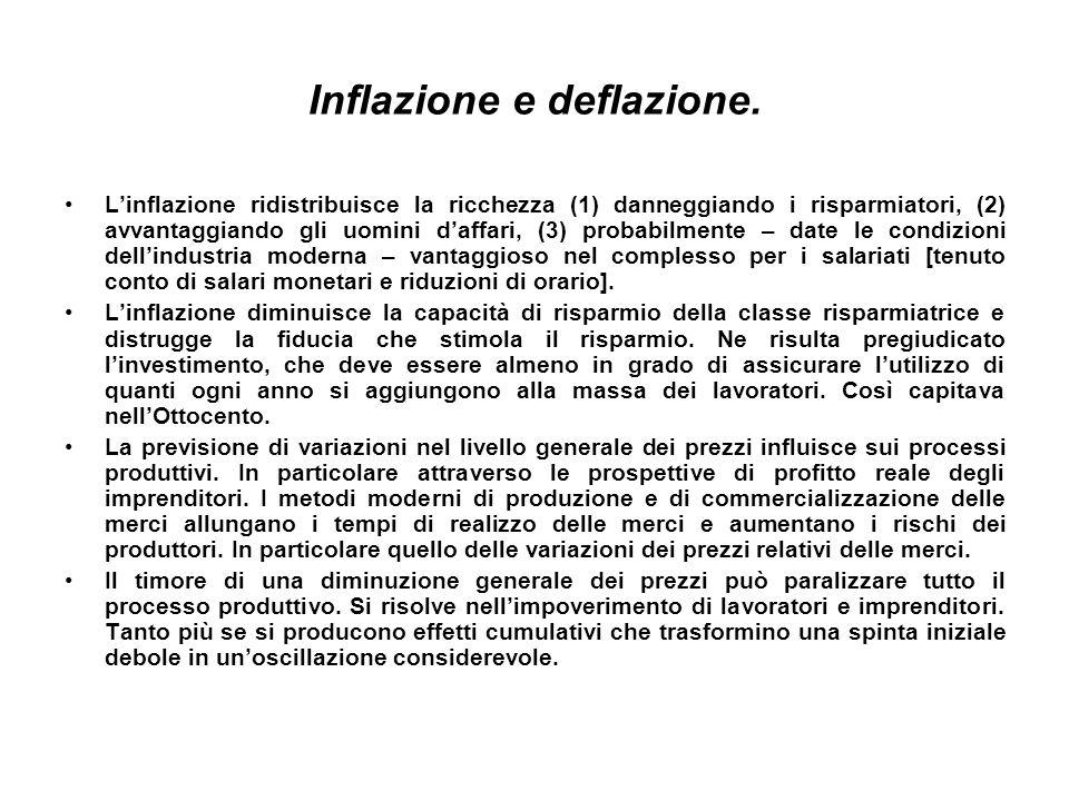 Inflazione e deflazione.