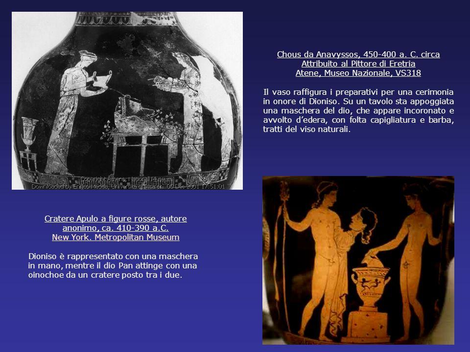 Chous da Anavyssos, 450-400 a. C. circa Attribuito al Pittore di Eretria Atene, Museo Nazionale, VS318 Il vaso raffigura i preparativi per una cerimon
