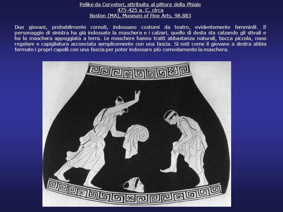 Pelike da Cerveteri, attribuita al pittore della Phiale 475-425 a. C. circa Boston (MA), Museum of Fine Arts, 98.883 Due giovani, probabilmente coreut