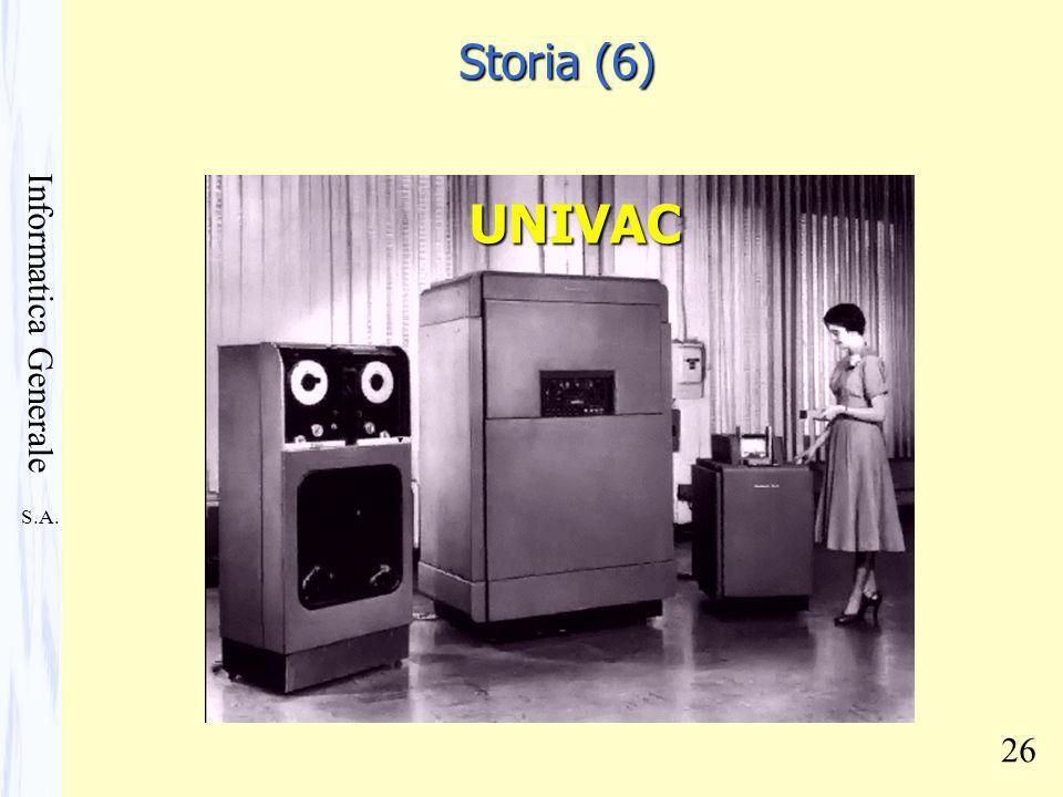 S.A. Informatica Generale 26 UNIVAC Storia (6)