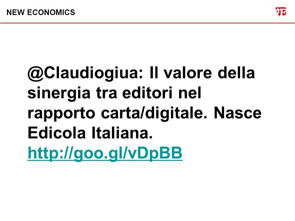 NEW ECONOMICS @Claudiogiua: Il NY Daily News in ginocchio - tipografia allagata - riesce ad uscire solo grazie agli aiuti dei giornali concorrenti.