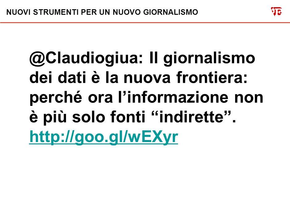 NUOVI STRUMENTI PER UN NUOVO GIORNALISMO @Claudiogiua: Il giornalismo politico non è più lo stesso dopo il caso FiveThirtyEight.