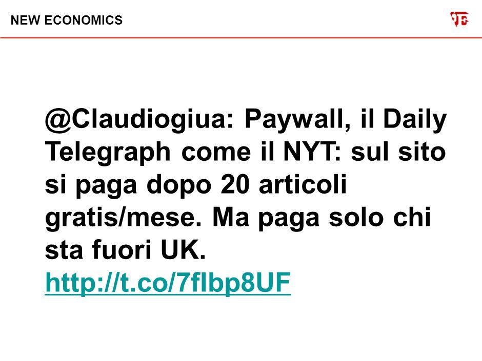 NEW ECONOMICS @Claudiogiua: Infografica di Mashable sull adozione massiccia del paywall nei siti dei giornali USA.