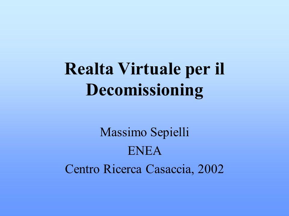 Realta Virtuale per il Decomissioning Massimo Sepielli ENEA Centro Ricerca Casaccia, 2002