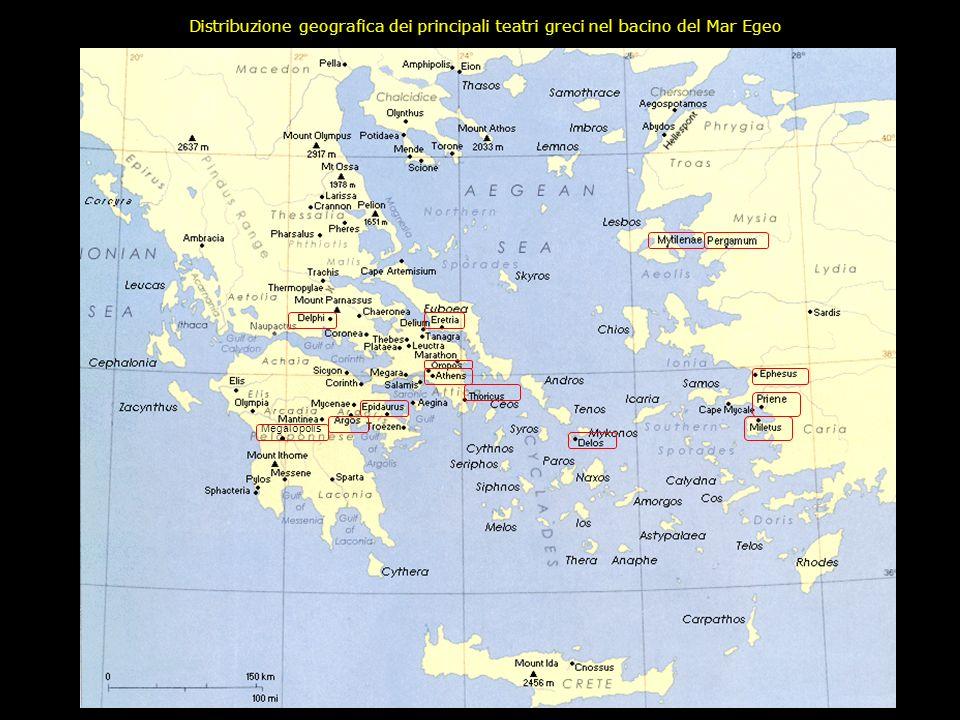 Nello studio della storia del teatro greco interagiscono tra loro quattro generi di fonti: 1.Fonti archeologiche Nellarco di tempo compreso fra il V e
