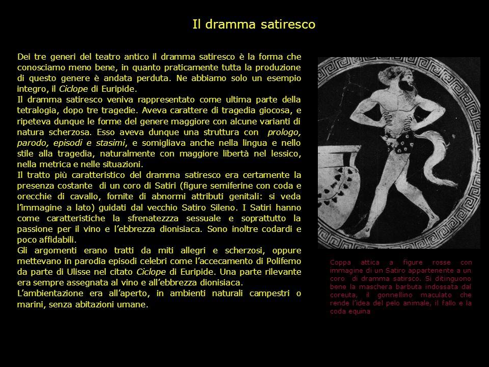 La forma della commedia greca B. La Commedia Nuova A partire dalla fine del V secolo, in corrispondenza di importanti cambiamenti nella società atenie