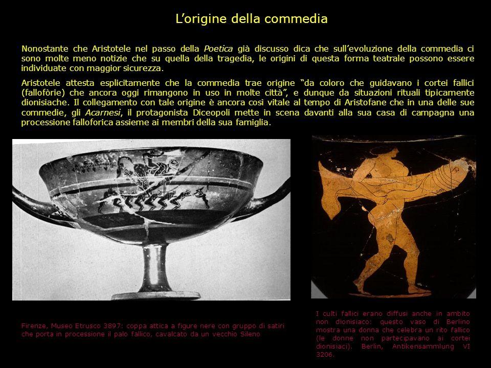 Alla discussione sulla validità delle notizie di Aristotele si collega quella sul significato della parola Tragodia, tragedia. In essa compaiono evide
