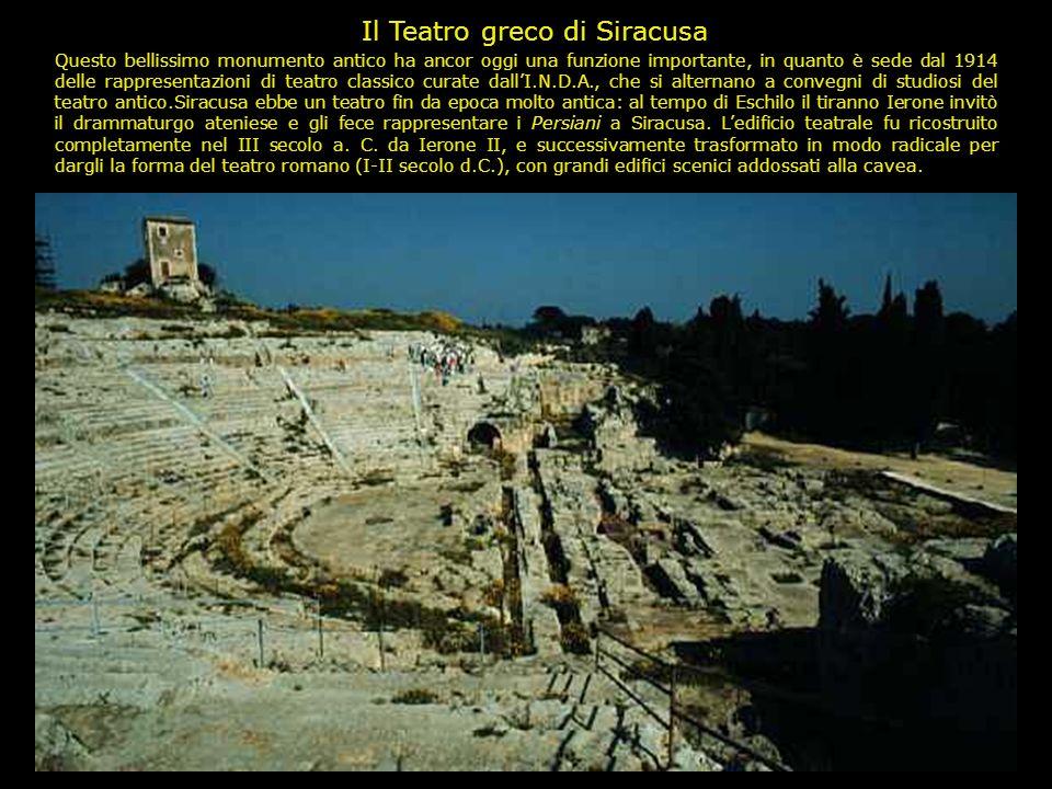 Distribuzione geografica dei principali teatri greci e greco-romani in Sicilia e Magna Grecia