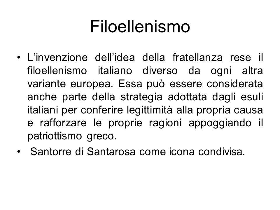 Filoellenismo Linvenzione dellidea della fratellanza rese il filoellenismo italiano diverso da ogni altra variante europea. Essa può essere considerat