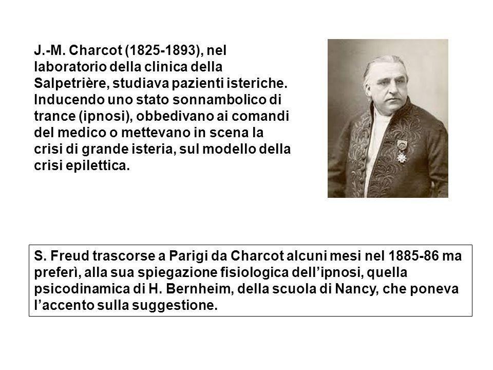 J.-M. Charcot (1825-1893), nel laboratorio della clinica della Salpetrière, studiava pazienti isteriche. Inducendo uno stato sonnambolico di trance (i