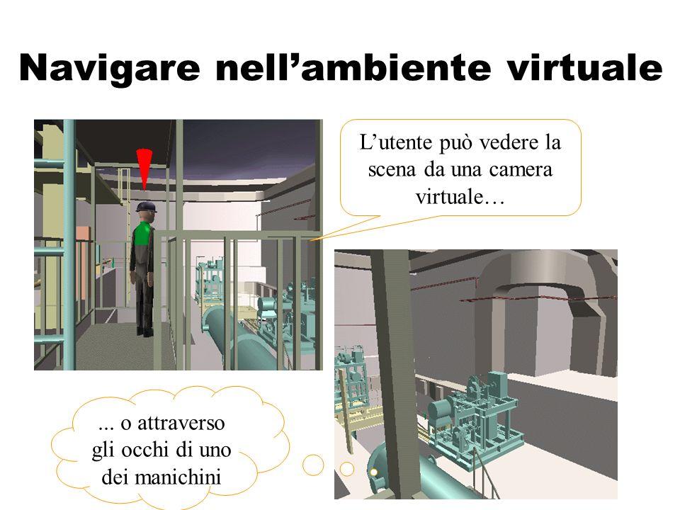 Navigare nellambiente virtuale Lutente può vedere la scena da una camera virtuale…...