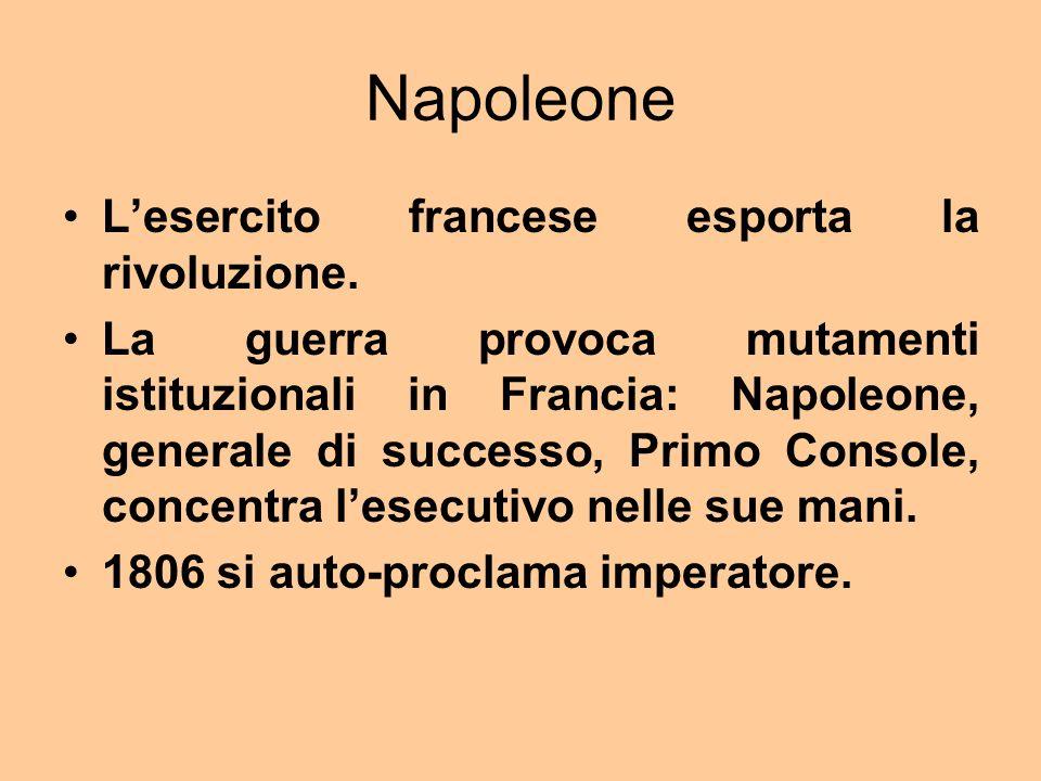 Napoleone Lesercito francese esporta la rivoluzione.