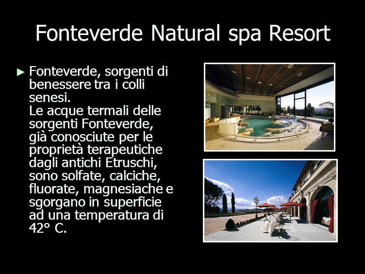 Fonteverde Natural spa Resort Fonteverde, sorgenti di benessere tra i colli senesi.