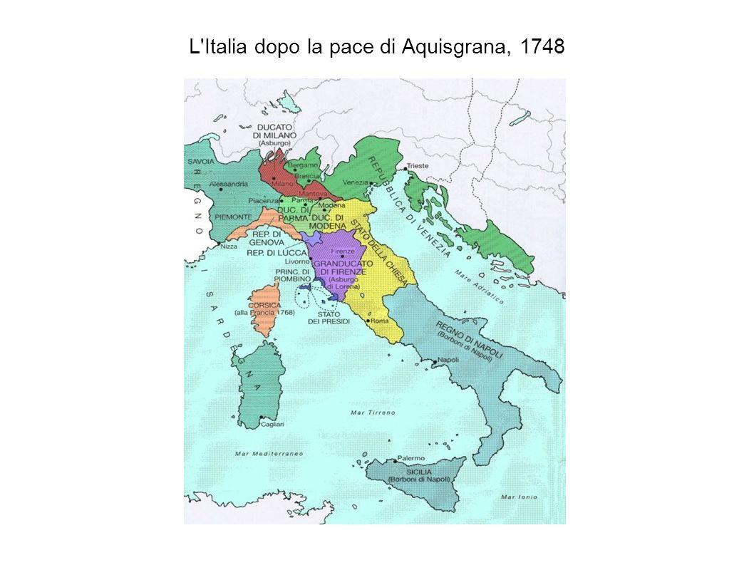 L'Italia dopo la pace di Aquisgrana, 1748