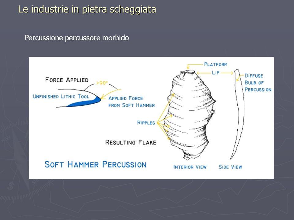 Le industrie in pietra scheggiata Percussione percussore morbido
