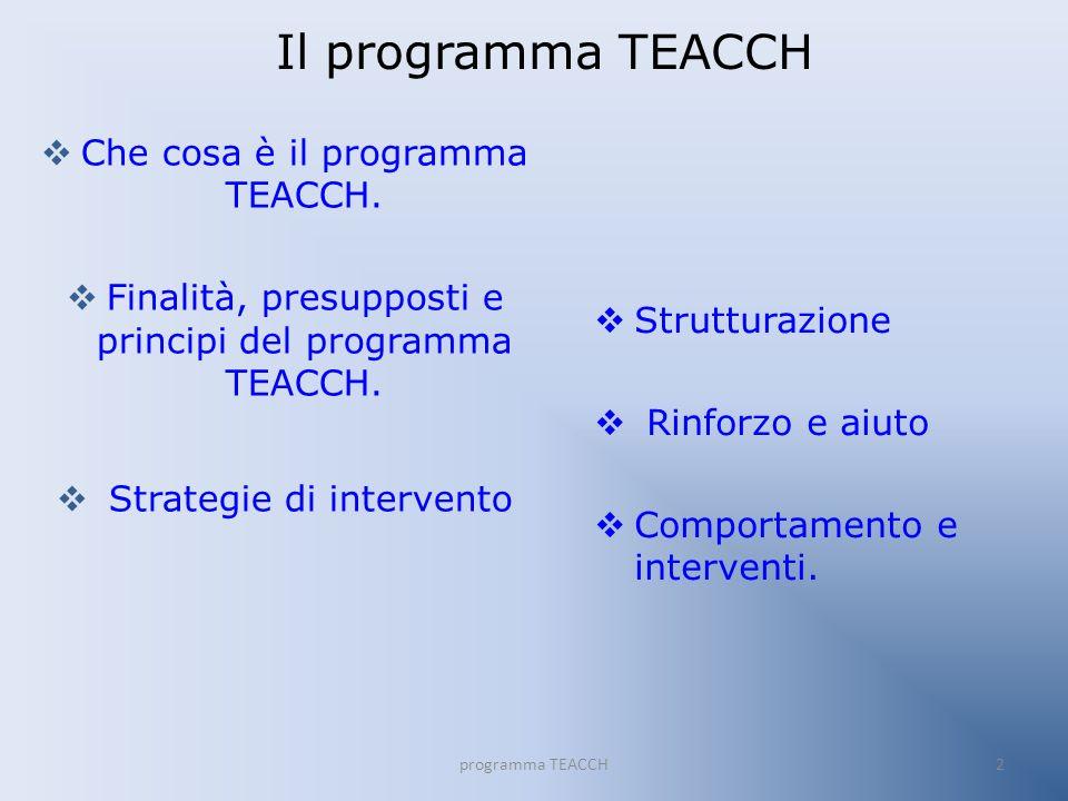Che cosa è il programma TEACCH .