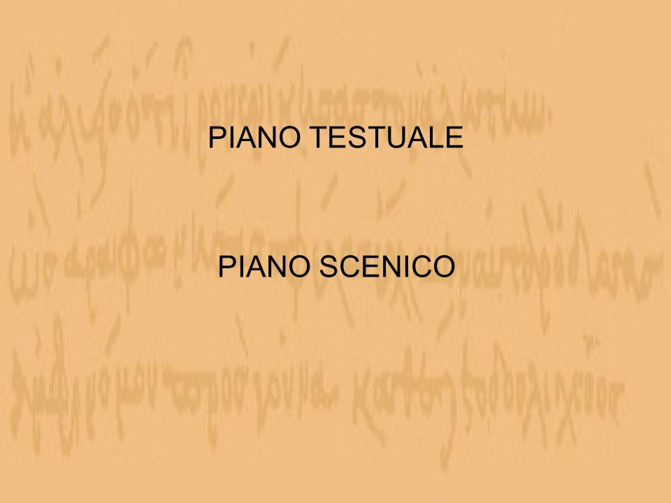 PIANO TESTUALE PIANO SCENICO