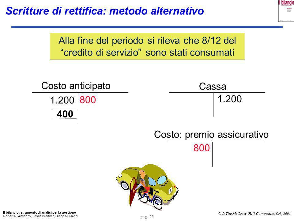 pag. 25 Il bilancio: strumento di analisi per la gestione Robert N. Anthony, Leslie Breitner, Diego M. Macrì © © The McGraw-Hill Companies, Srl., 2004