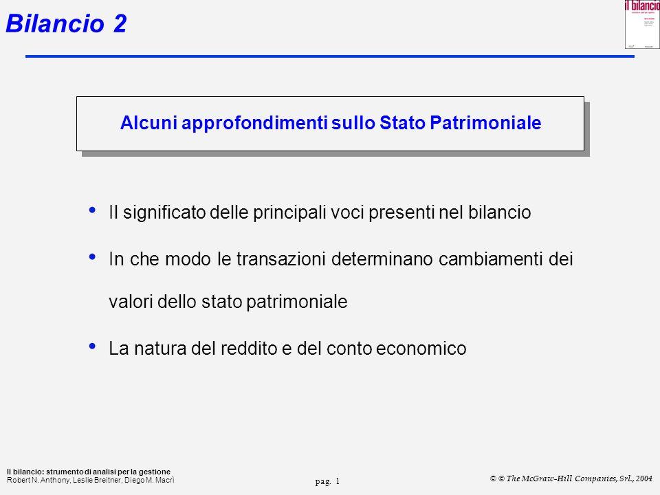 pag.11 Il bilancio: strumento di analisi per la gestione Robert N.
