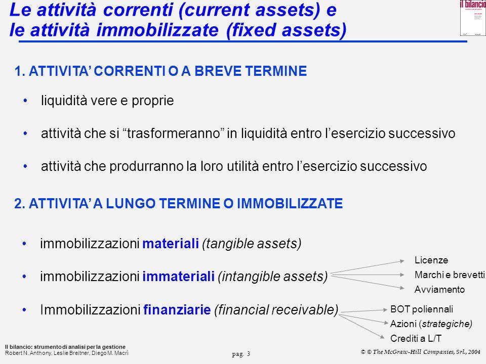 pag.13 Il bilancio: strumento di analisi per la gestione Robert N.