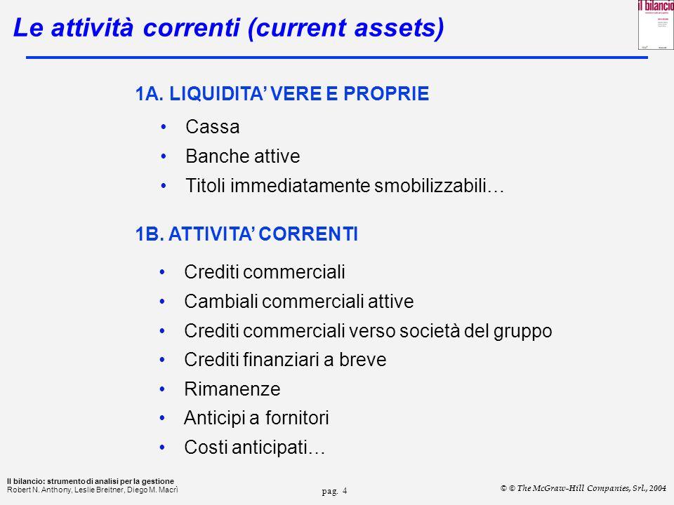 pag.4 Il bilancio: strumento di analisi per la gestione Robert N.