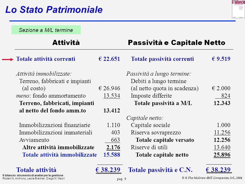 pag.29 Il bilancio: strumento di analisi per la gestione Robert N.