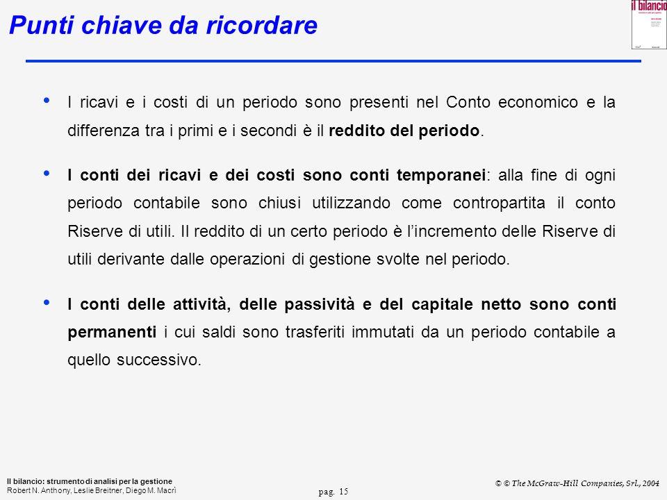 pag. 15 Il bilancio: strumento di analisi per la gestione Robert N.